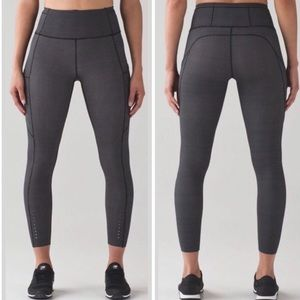 Lululemon Fast and Free 7/8 Tight Teeny Check
